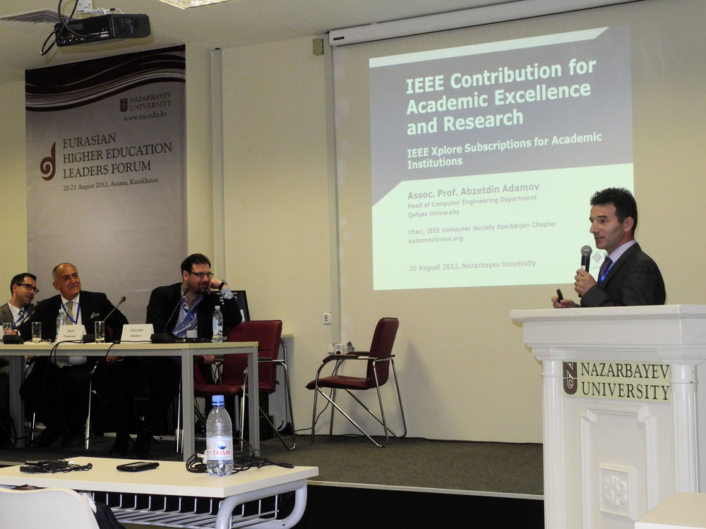 Eurasian Higher Education Leaders' Forum - IEEE Digital Library Contribution for Academic Excellence and Research. The Case Study.